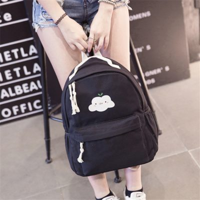 Backpack Ransel Kanvas Motif Cloudy