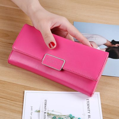Dompet Panjang Lipat Harga Grosir Shocking Pink
