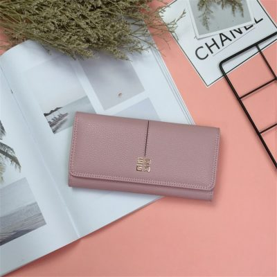 Dompet Panjang Lipat Warna Pink