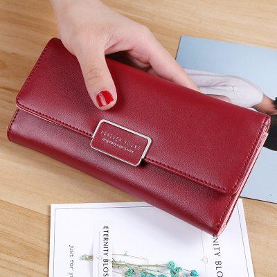 Dompet Panjang Warna Merah Marun