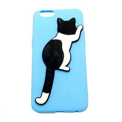 Grosir Blue Silicone Case Cat IPhone 5
