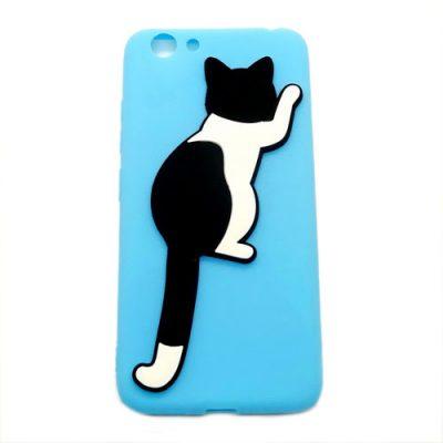 Grosir Blue Silicone Case Cat Vivo Y53