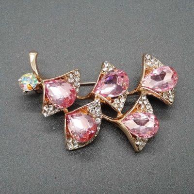 Grosir Bros Bunga Kristal Merah Muda