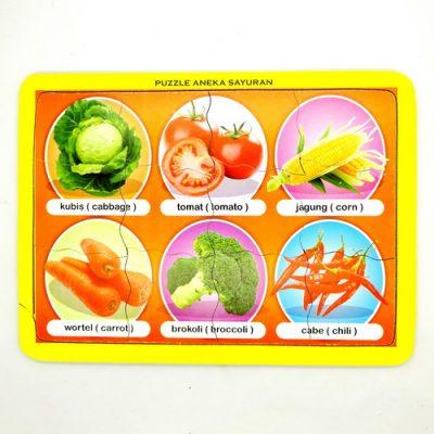 Mainan Puzzle Anak Aneka Sayuran