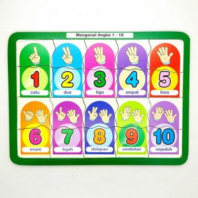 Mainan Anak Puzzle Mengenal Angka