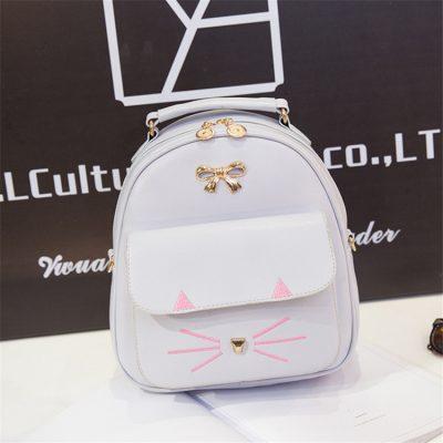Grosir Ransel Model Kucing Warna Putih