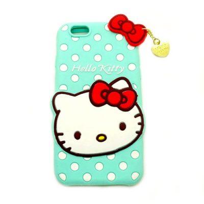 Grosir Silicone Case Hello Kitty Hijau Muda For IPhone 6