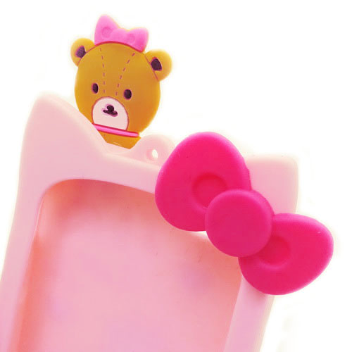 Grosir Silicone Case IPhone 6 Hello Kitty Tali Pink