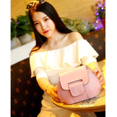 Satchel Bag Rantai Retro Pink
