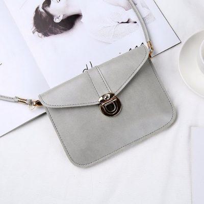 Tas Selempang Mini Warna Light Grey