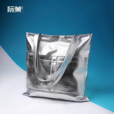 Tote Bag Bahan Metalik