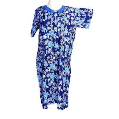 Daster Batik Ibu Cantik Warna Biru