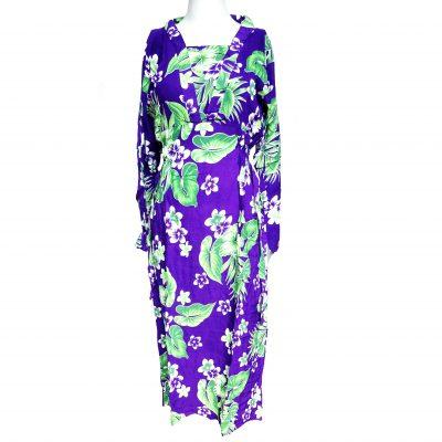Daster Batik Lengan Panjang Bunga Kamboja Ungu merupakan pakaian wanita yang biasanya dipakai saat di rumah sebagai baju santai maupun baju tidur