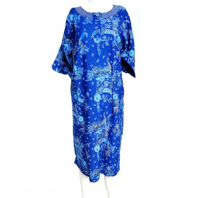 Daster Batik Lengan Panjang Warna Biru Murah