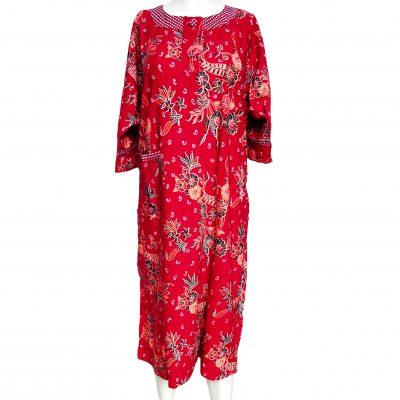 Daster Batik Lengan Panjang Warna Maron Murah