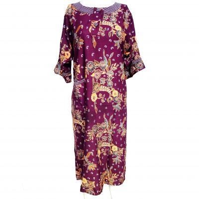Daster Batik Lengan Panjang Warna Ungu Murah