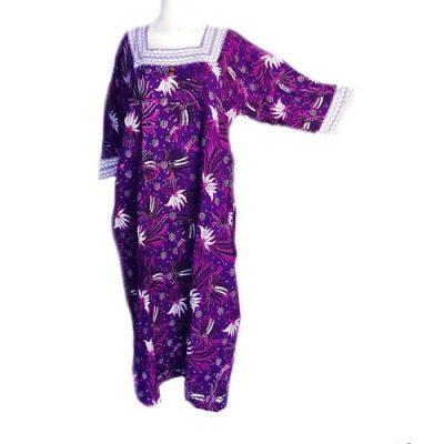 Daster Batik Merak Lengan Panjang Warna Ungu
