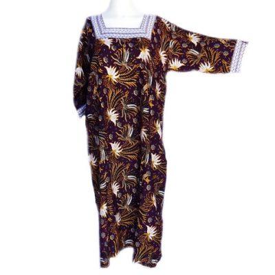 Daster Batik MerakLengan Panjang Warna Coklat
