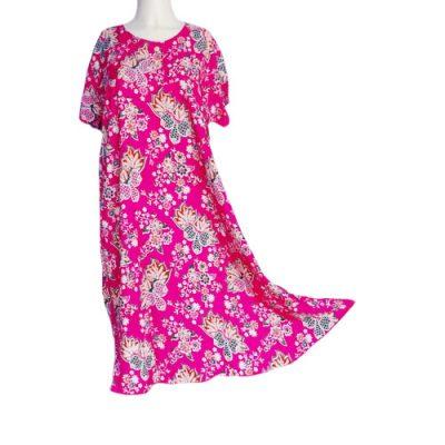 Daster Klok Pink Lengan Pendek Murah