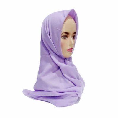 Hijab Saudia Rawis Warna Ungu Lavender