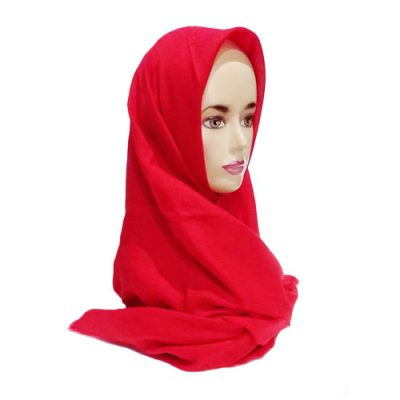 Hijab Saudia Rawis Warna Merah