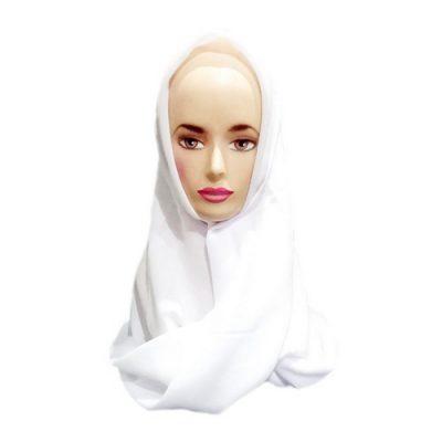 Hijab Saudia Rawis Warna Putih