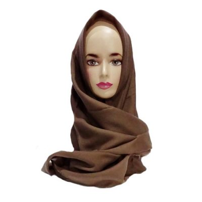 Hijab Saudia Rawis Warna Coklat