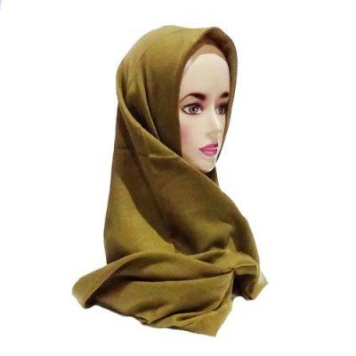 Hijab Saudia Rawis Warna Olive