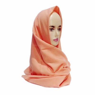 Hijab Saudia Rawis Warna Peach