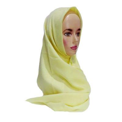 Hijab Saudia Rawis Warna Kuning Gading