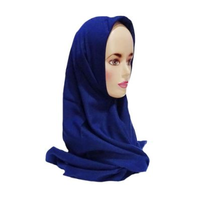 Hijab Saudia Rawis Warna Biru Navy