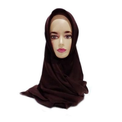 Hijab Saudia Ansania Rawis Warna Coklat