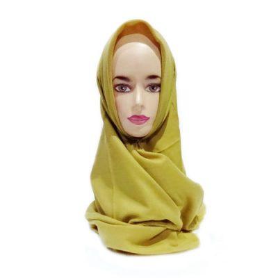 Hijab Saudia Ansania Rawis Warna Mustard