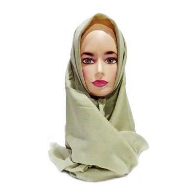 Hijab Saudia Ansania Rawis Warna Olive