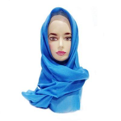 Hijab Saudia Rawis Warna Biru