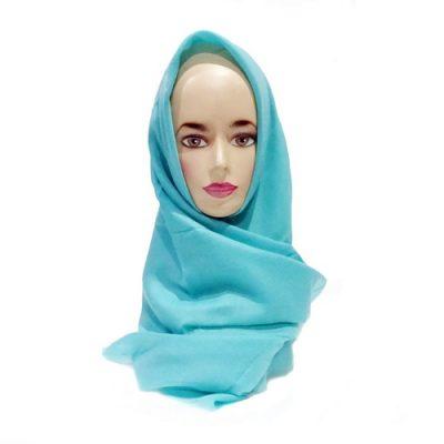 Hijab Saudia Rawis Warna Biru Turquoise