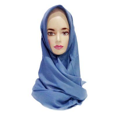 Hijab Saudia Rawis Warna Abu Abu SMA