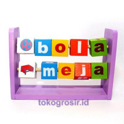 Mainan Balok Baca Berwarna