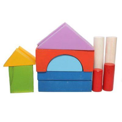 Mainan Edukasi Balok Bangunan Berwarna