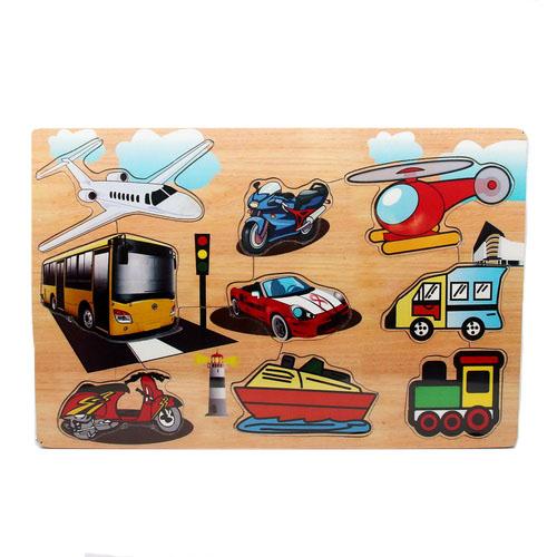 Mainan Edukasi Puzzle Stiker Transportasi