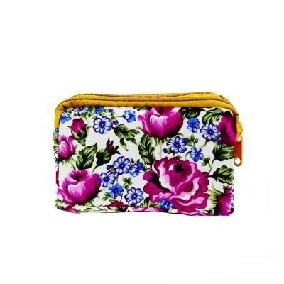 Dompet Kecil Batik Bunga Ada Tali Panjang