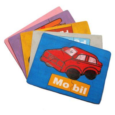 Mainan Edukasi Puzzle Baca Transportasi isi 5