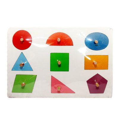 Mainan Edukasi Puzzle Geometri Knob
