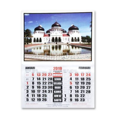 Kalender Gambar Masjid Baiturrahman 2019