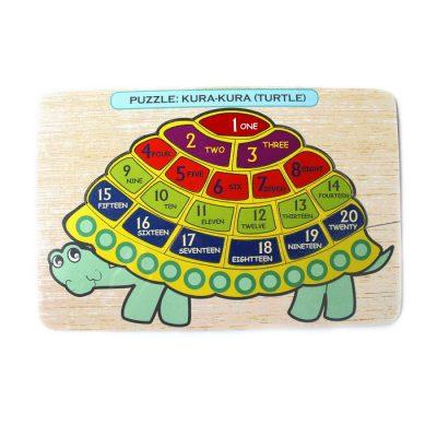 Mainan Puzzle Kura Kura Mengenal Angka