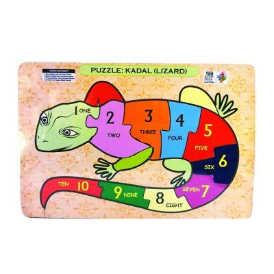 Mainan Puzzle Reptile Angka