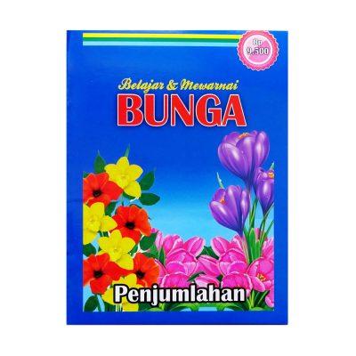 Buku Belajar Mewarnai Bunga