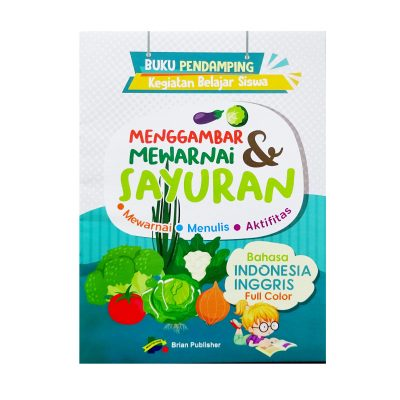 Buku Mewarna Sayuran Full Color