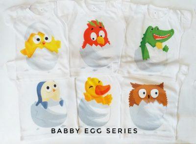 Kaos Bayi Lucu Babby Egg Series