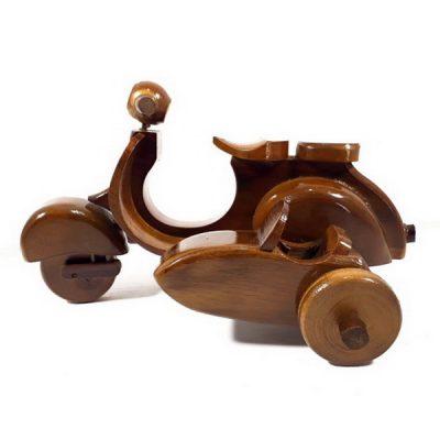 Kerajinan Kayu Jati Miniatur Motor Vespa
